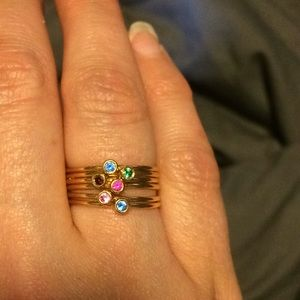 Size 7 stackable gold rings